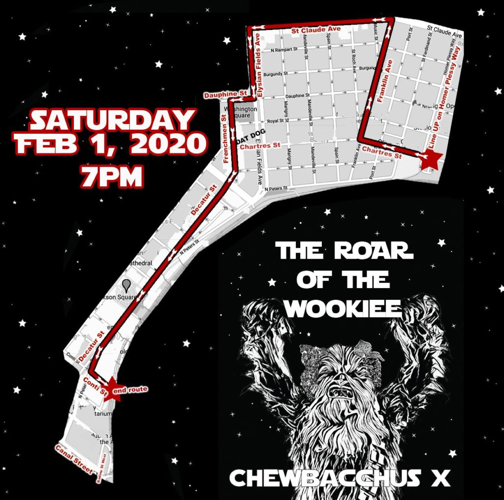 Chewbacchus 2020 Route
